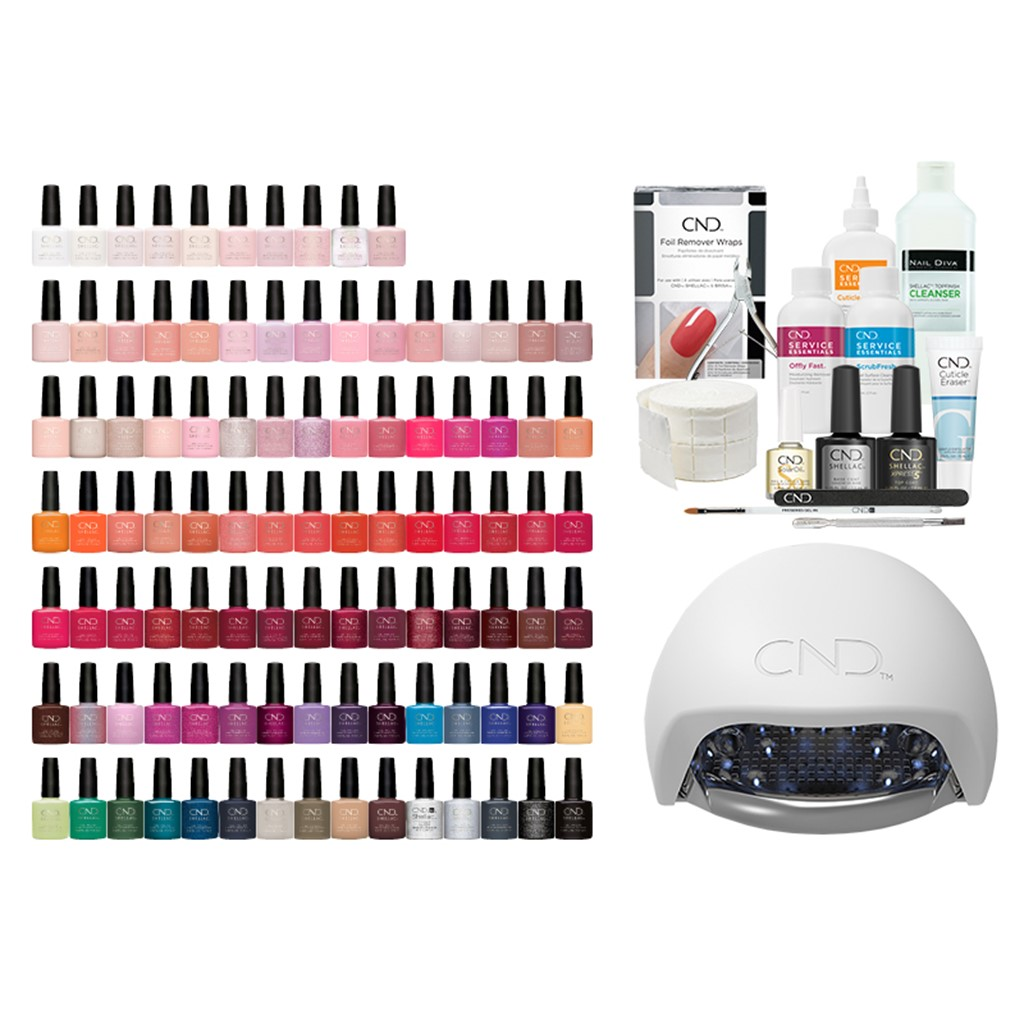 Shellac 100 Starter Kit w.LED lamp - Insight Cosmetics Group